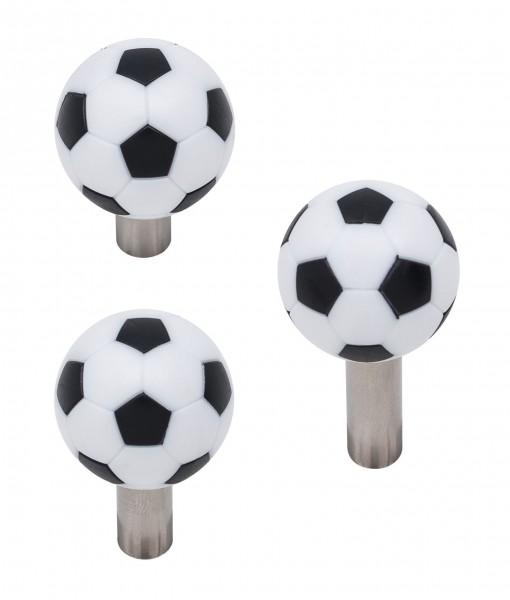 """Griff Typ """"Soccer"""" in Edelstahl mit Fussball 32mm, 3 Längen, massiv"""